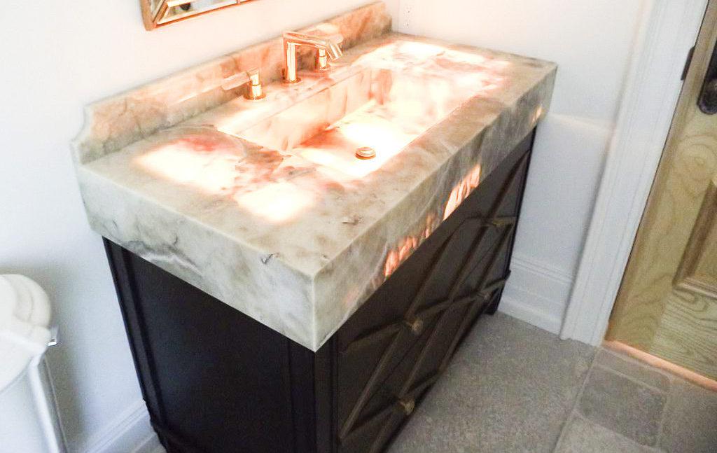 Custom Onyx Countertops S, Onyx Bathroom Countertops